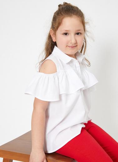 Koton Kids Omuz Detayli Gömlek Beyaz